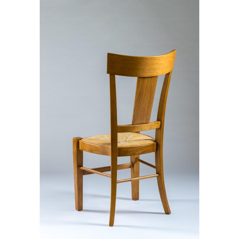 chaise rustique en ch ne meubles jamet. Black Bedroom Furniture Sets. Home Design Ideas