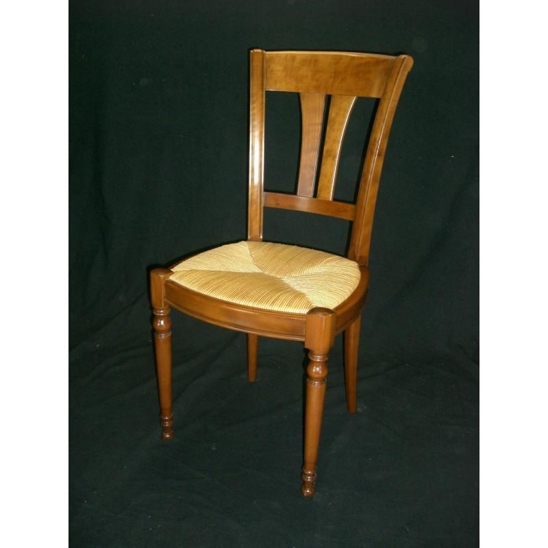 Chaise camaret louis philippe en merisier meubles jamet - Chaise merisier louis philippe ...