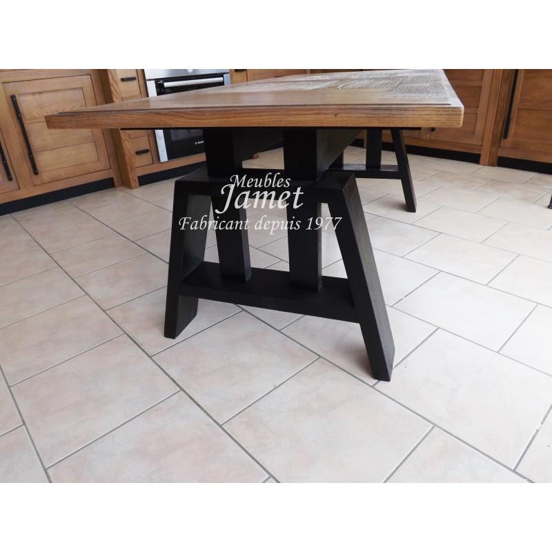 table de salon style atelier r f ts868 meublesjamet. Black Bedroom Furniture Sets. Home Design Ideas