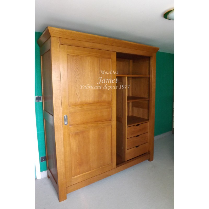 armoire en bois dressing meubles jamet. Black Bedroom Furniture Sets. Home Design Ideas
