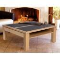 Tables de salon en bois DINETTE ouverture centrale