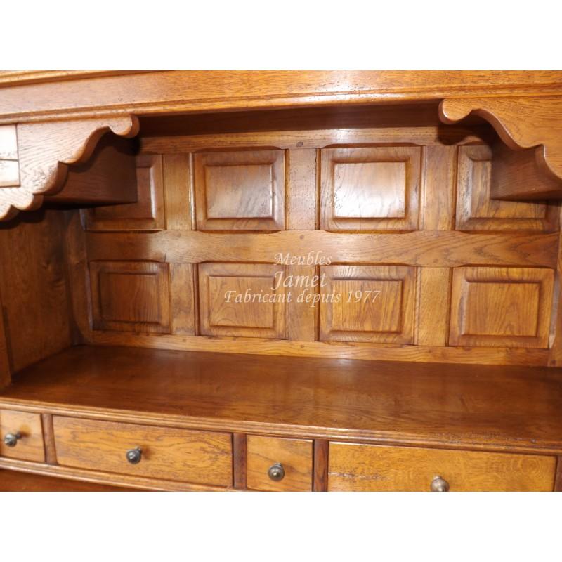 Buffet vaissellier en bois meubles jamet for Buffet vaisselier