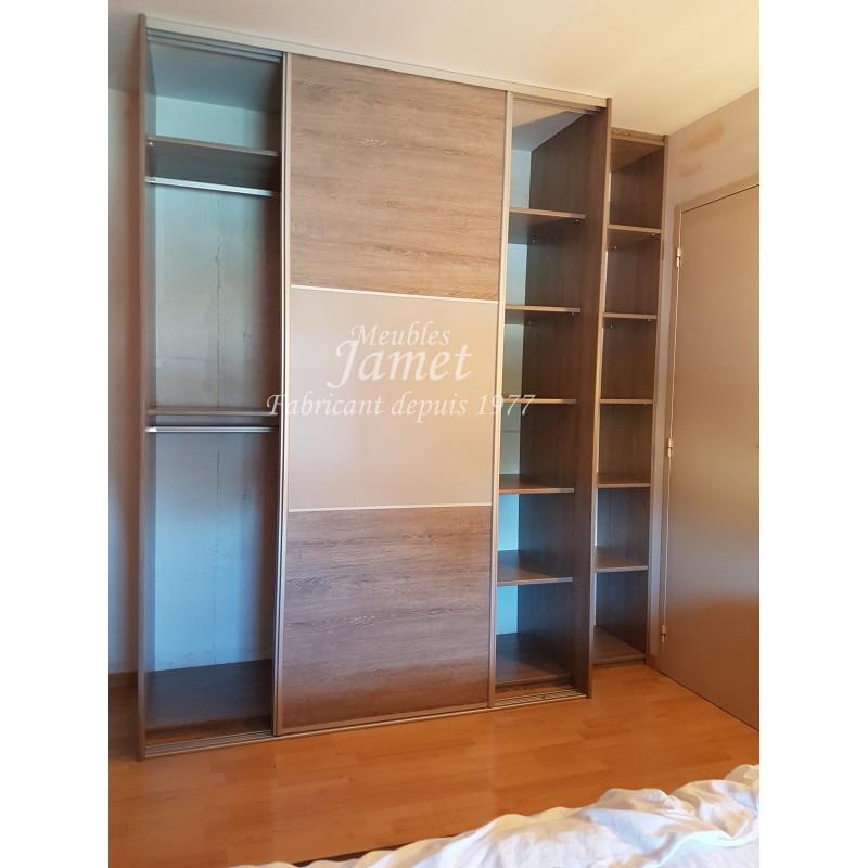 dressing sur mesure gris graphite double porte meubles jamet. Black Bedroom Furniture Sets. Home Design Ideas