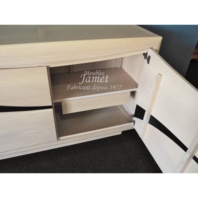 buffet bas contemporain 2 portes meubles sur mesure. Black Bedroom Furniture Sets. Home Design Ideas