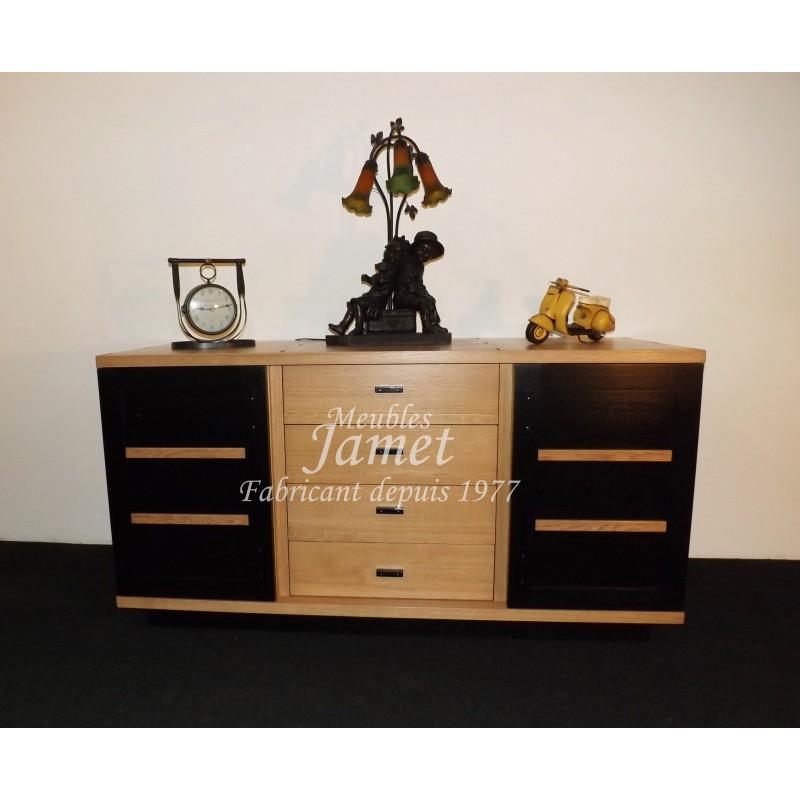 enfilade style atelier marron noir meubles jamet. Black Bedroom Furniture Sets. Home Design Ideas