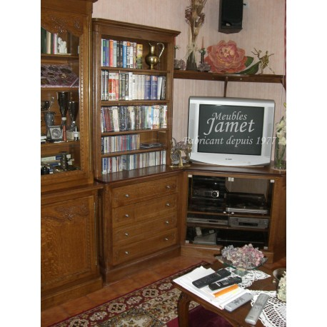 Meuble TV HIFI en chêne