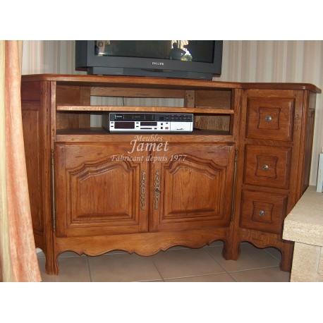 Meuble télévision HIFI en chêne Réf. MT 45
