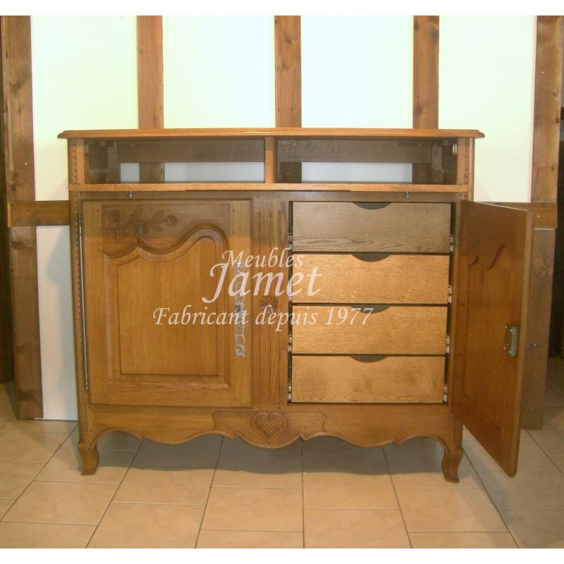 petit meuble tv hifi sculpt en bois meubles jamet. Black Bedroom Furniture Sets. Home Design Ideas