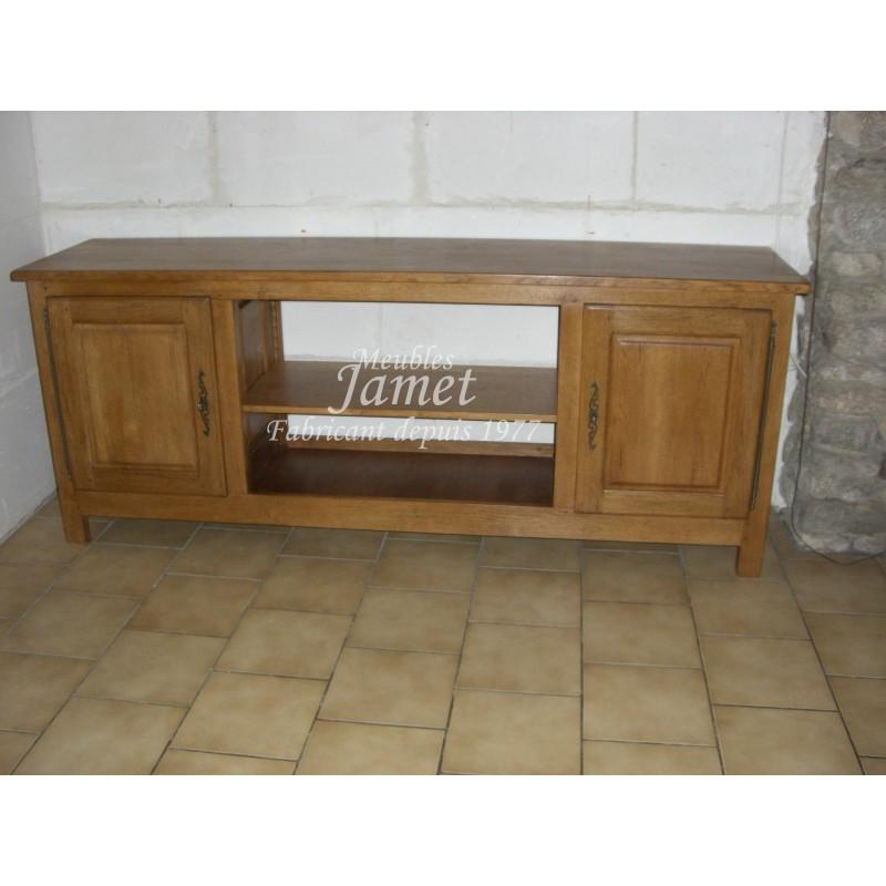 meuble tv hifi large en ch ne meubles jamet. Black Bedroom Furniture Sets. Home Design Ideas