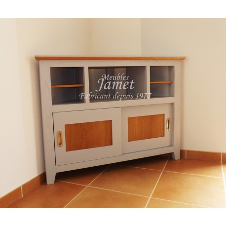 meuble tv hifi d 39 angle laqu gris meubles jamet. Black Bedroom Furniture Sets. Home Design Ideas