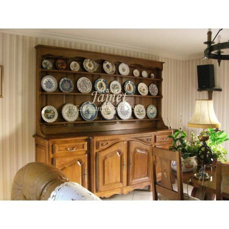 buffet vaisselier rustique en ch ne massif meubles jamet. Black Bedroom Furniture Sets. Home Design Ideas