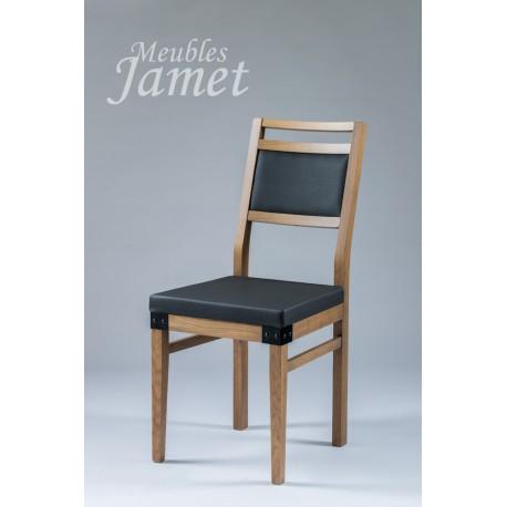 chaise factory noir marron style atelier meubles jamet. Black Bedroom Furniture Sets. Home Design Ideas