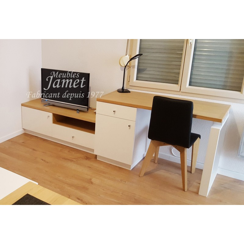 ensemble bureau meuble t l r f bs 655 meublesjamet. Black Bedroom Furniture Sets. Home Design Ideas