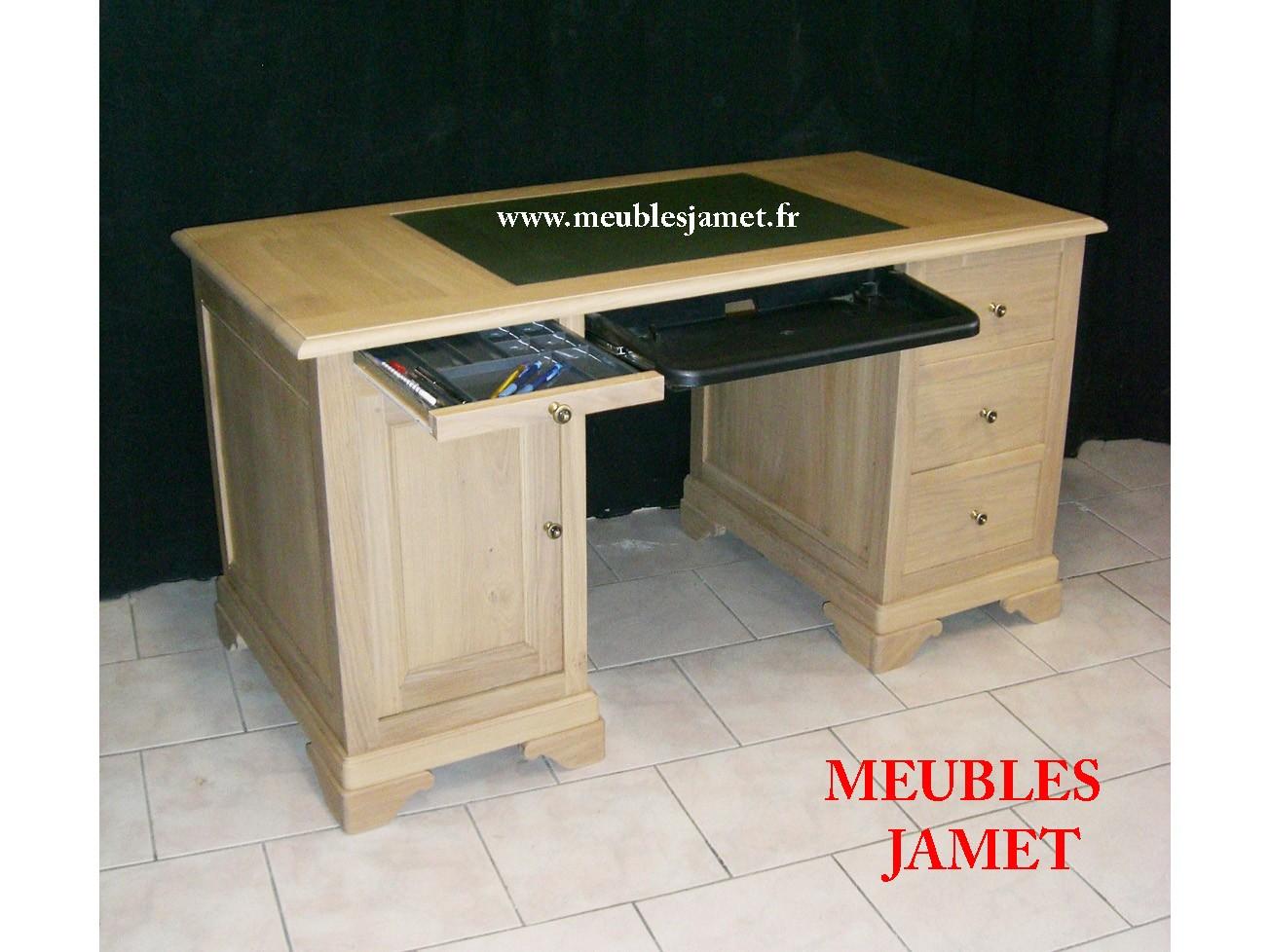 Ancien bureau salon design doccasion massif noir bois blanc