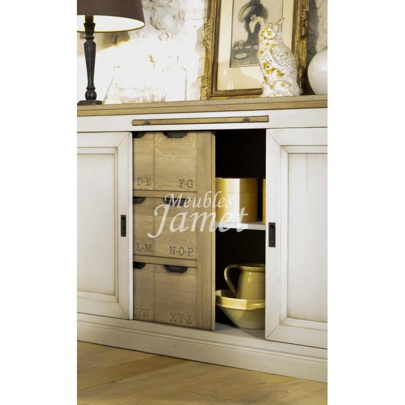 Bahut 3 portes coulissantes r f be30 meublesjamet - Bahut portes coulissantes ...