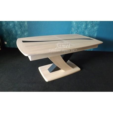 Table contemporaine en chêne massif. Réf.1180 bis