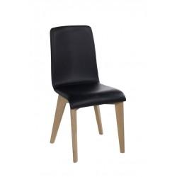Chaise contemporaine cuir noir