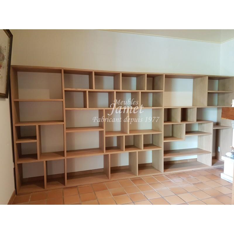 biblioth que sur mesure en bois meubles jamet. Black Bedroom Furniture Sets. Home Design Ideas