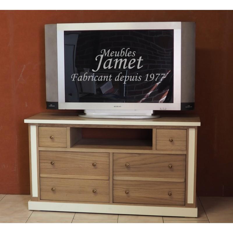 meuble de t l vision contemporain en ch ne massif. Black Bedroom Furniture Sets. Home Design Ideas