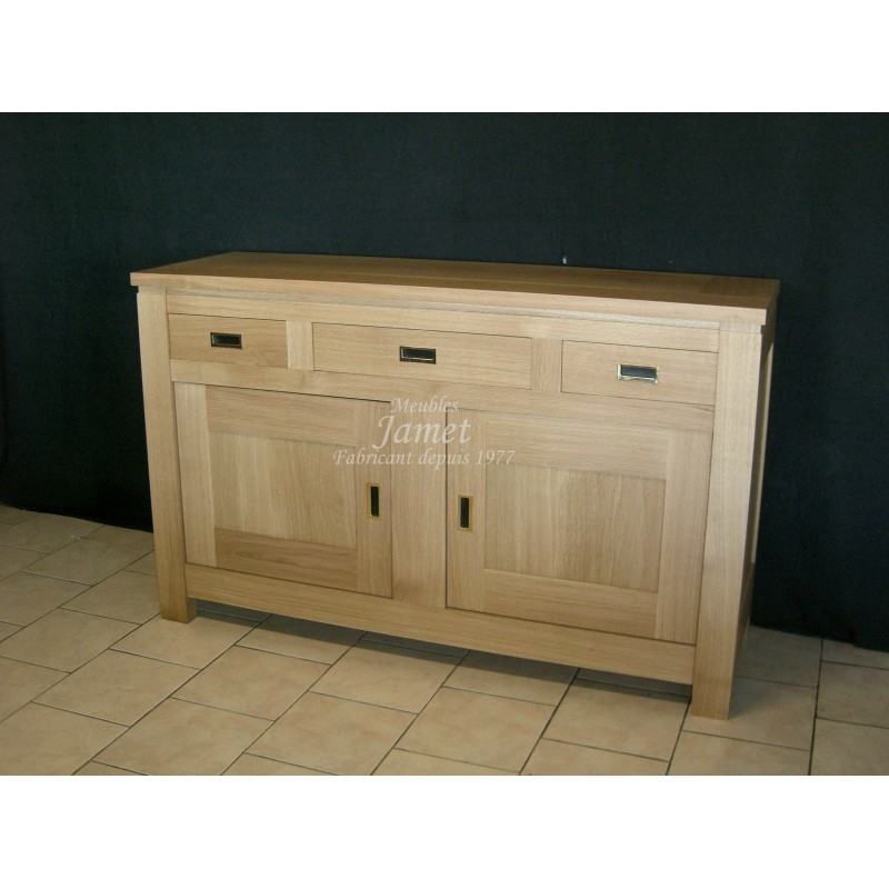 buffets bas contemporain en ch ne meubles jamet. Black Bedroom Furniture Sets. Home Design Ideas