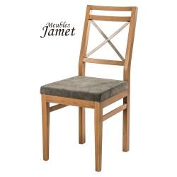 Chaise style industriel INDUSTRY noire