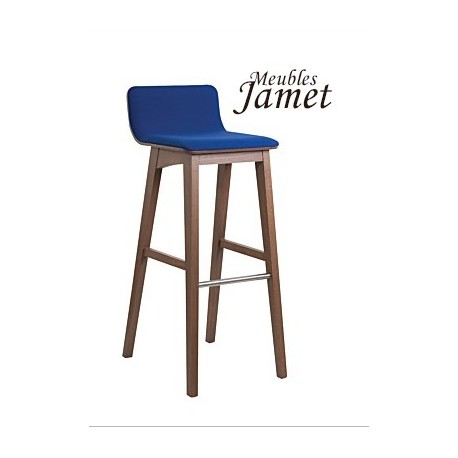 Tabouret de bar contemporain enoa en ch ne meublesjamet for Tabouret bar contemporain