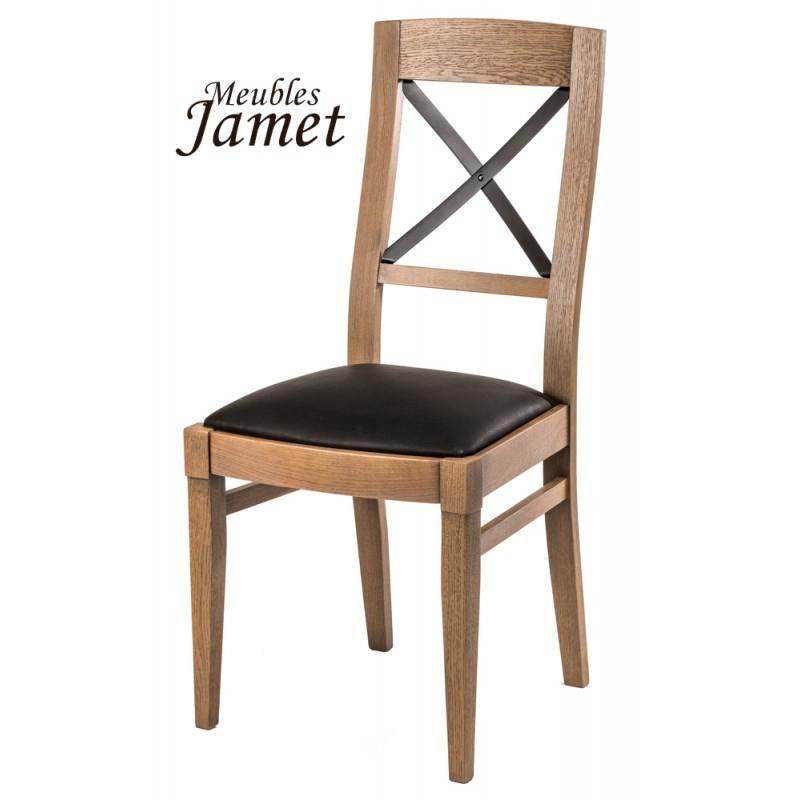 Chaise style industriel loft en ch ne meublesjamet - Chaise bureau industriel ...