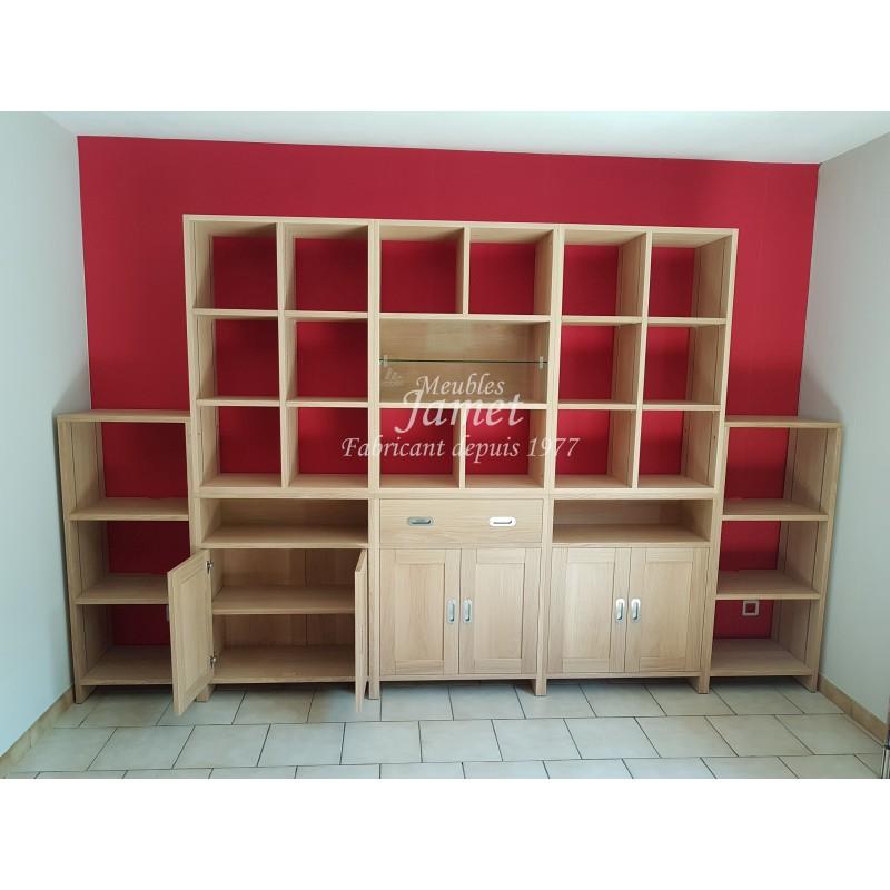 biblioth que style contemporaine sur mesure meublesjamet. Black Bedroom Furniture Sets. Home Design Ideas