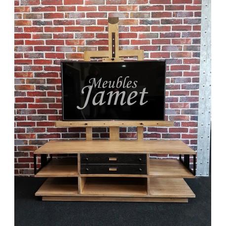 Meubles TV chevalet en chêne Réf. 4127