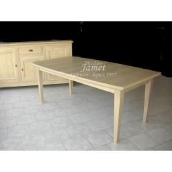 Table contemporaine en bois beige