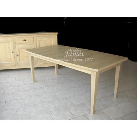 Table contemporaine en bois beige meubles jamet for Table en bois contemporaine