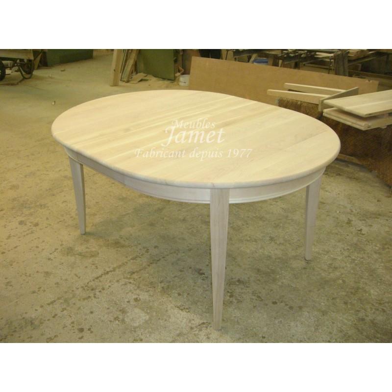 Table Ovale En Bois Massif Fabriacnat De Meubles