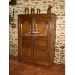 Armoirette Campagne en bois double porte ciré