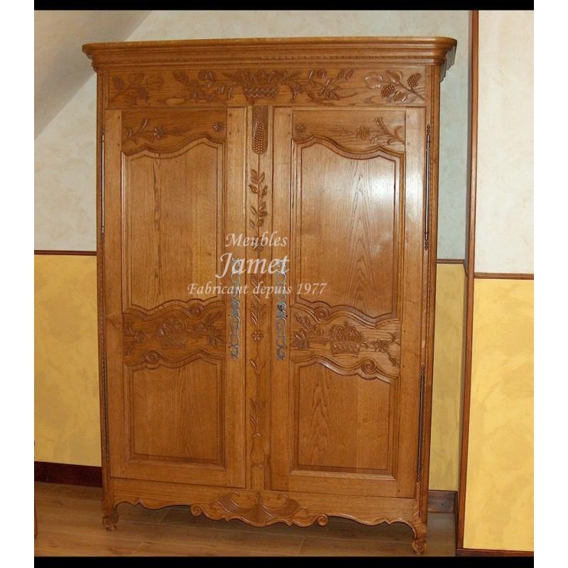 Armoire normande meubles jamet - Prix d une armoire normande ...