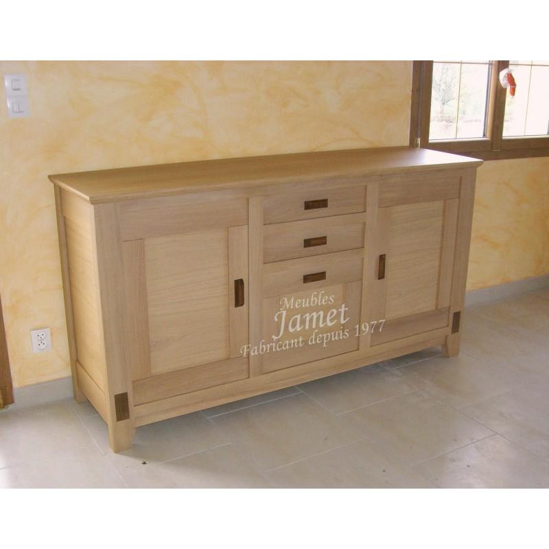 enfilade contemporaine en bois marron clair meubles jamet. Black Bedroom Furniture Sets. Home Design Ideas