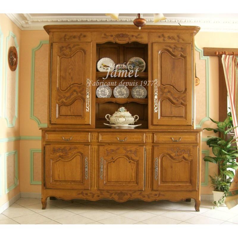 buffet vaissellier 3 portes rustique meuble normand. Black Bedroom Furniture Sets. Home Design Ideas
