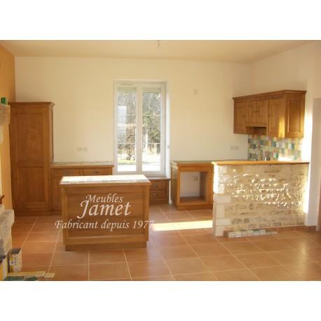 cuisine rustique en bois moderne meubles jamet. Black Bedroom Furniture Sets. Home Design Ideas