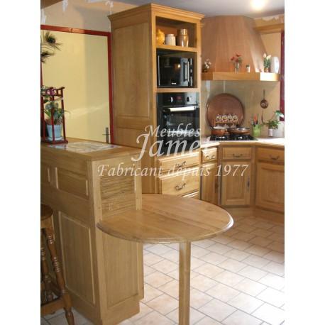 Cuisine rustique en bois clair meubles jamet for Cuisine rustique bois