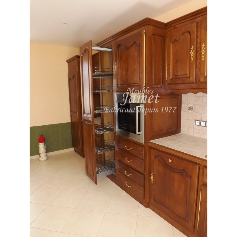 cuisine rustique en bois long meubles jamet. Black Bedroom Furniture Sets. Home Design Ideas