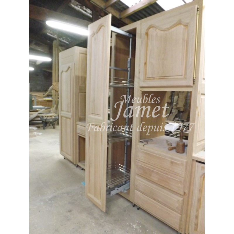 cuisine rustique en bois long meubles jamet. Black Bedroom Furniture Sets. Home Design Ideas