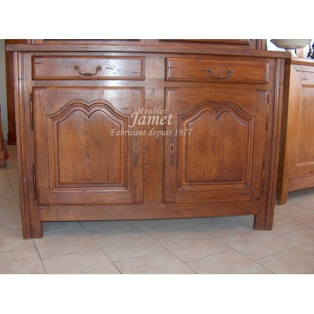 Meuble bas campagnard large en bois meubles jamet for Meuble campagnard