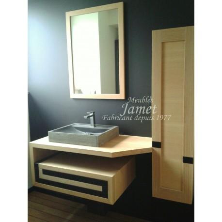 Salles de bain Contemporaine bois clair - MEUBLES JAMET