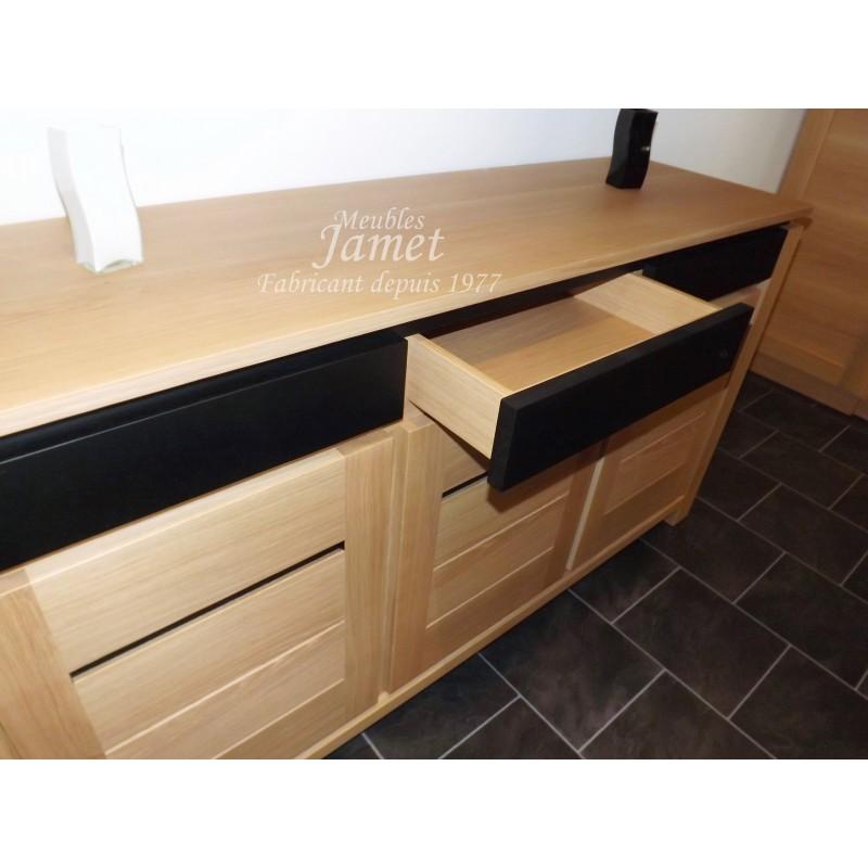 enfilade contemporaine pur e en bois meubles jamet. Black Bedroom Furniture Sets. Home Design Ideas