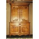 meuble massif normand en bois Deux Corps Sculpté