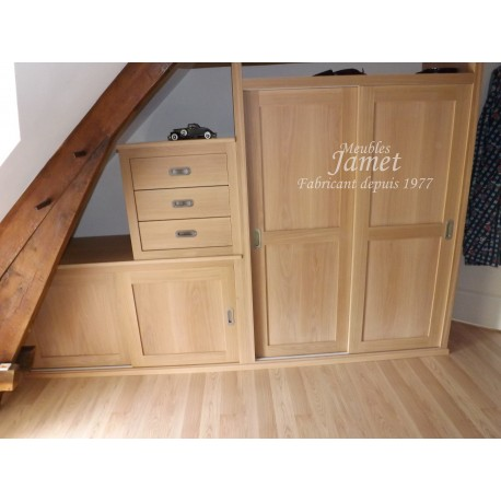 dressing en bois fin contemporain meubles jamet. Black Bedroom Furniture Sets. Home Design Ideas