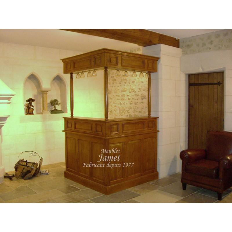 bar en bois de salon meubles jamet. Black Bedroom Furniture Sets. Home Design Ideas