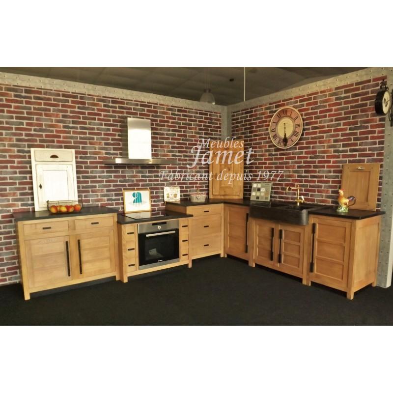 cuisine charmante et design style atelier meubles jamet. Black Bedroom Furniture Sets. Home Design Ideas