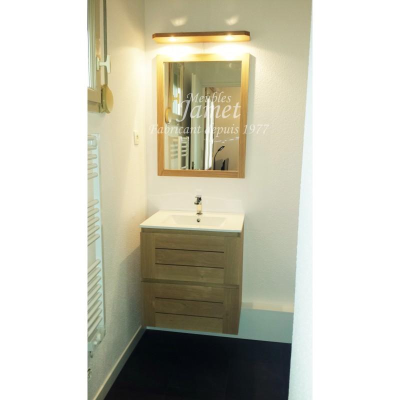 Salle de bain contemporaine lumineuse en bois - MEUBLES JAMET