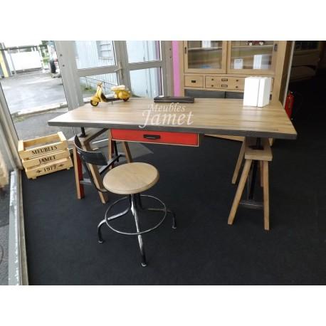 Bureau Style Industriel En Chene