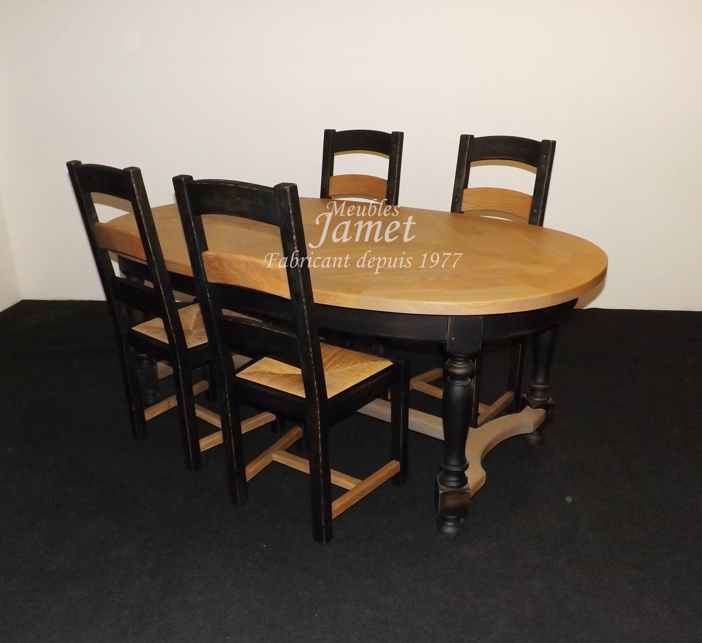 Relooker Une Table En Bois table ovale en chêne dessus en épis - meubles jamet
